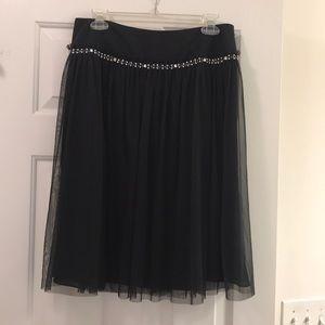 Elegant black skirt with rhinestones NWOT